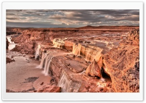 Desert Waterfall HD Wide Wallpaper for Widescreen