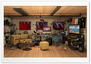 Designer's Room 3D HD Wide Wallpaper for Widescreen