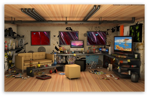 Download Designeru0027s Room 3D HD Wallpaper