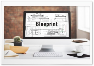Desktop Blueprint HD Wide Wallpaper for Widescreen