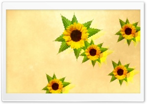 Desktop Sunflowers HD Wide Wallpaper for Widescreen