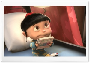 Despicable Me 2 Agnes HD Wide Wallpaper for 4K UHD Widescreen desktop & smartphone