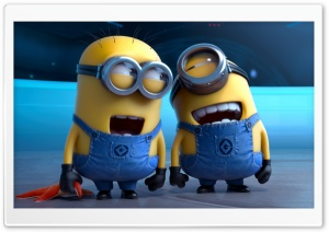 Despicable Me 2 Laughing Minions HD Wide Wallpaper for 4K UHD Widescreen desktop & smartphone