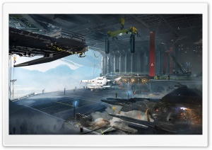 Destiny, Tower Hangar HD Wide Wallpaper for Widescreen