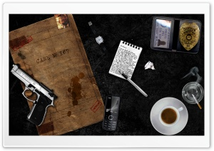 Detective Items HD Wide Wallpaper for Widescreen