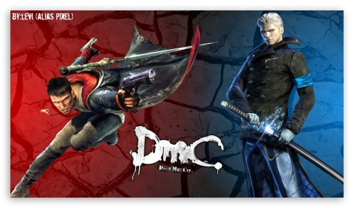 Devil May Cry - Dante  Vergil HD wallpaper for HD 16:9 High Definition WQHD QWXGA 1080p 900p 720p QHD nHD ; Mobile 16:9 - WQHD QWXGA 1080p 900p 720p QHD nHD ;