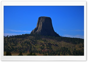 Devils Tower from a Distance HD Wide Wallpaper for 4K UHD Widescreen desktop & smartphone