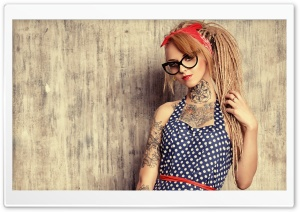 Devusa Tattoo Girl HD Wide Wallpaper for Widescreen