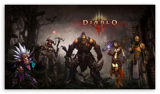 Diablo3 Single Screen HD wallpaper for HD 16:9 High Definition WQHD QWXGA 1080p 900p 720p QHD nHD ; Mobile PSP - Sony PSP Zune HD Zen ;
