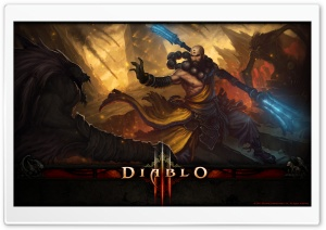 Diablo 3 Monk HD Wide Wallpaper for Widescreen