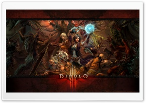 Diablo III - Bloody Battle HD Wide Wallpaper for Widescreen