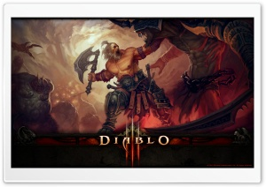 Diablo III Barbarian HD Wide Wallpaper for 4K UHD Widescreen desktop & smartphone