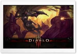 Diablo III Demon Hunter HD Wide Wallpaper for Widescreen