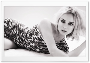 Diane Kruger Black And White Photo HD Wide Wallpaper for Widescreen