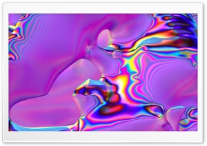 Digital Abstract Iridescent Art