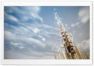 Digital Tower HD Wide Wallpaper for Widescreen