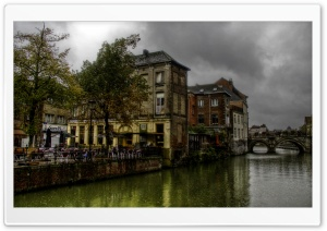 Dijle River - Mechelen - Belgium HD Wide Wallpaper for Widescreen