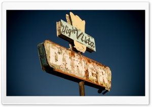 Diner Sign HD Wide Wallpaper for Widescreen
