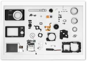 Disassembled Camera HD Wide Wallpaper for 4K UHD Widescreen desktop & smartphone