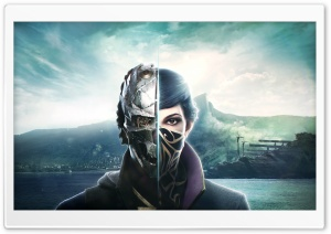 Dishonored 2, Emily Kaldwin, Corvo Attano, Game HD Wide Wallpaper for Widescreen