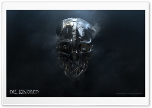 Dishonored Mask (2012 Video Game) HD Wide Wallpaper for 4K UHD Widescreen desktop & smartphone