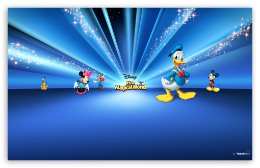 Disney Characters Blue 4K HD Desktop Wallpaper for 4K ...