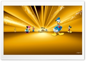 Disney Characters Gold HD Wide Wallpaper for Widescreen