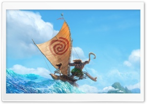 Disney Moana 2016 Animation HD Wide Wallpaper for Widescreen