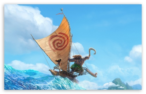 Download Disney Moana 2016 Animation HD Wallpaper