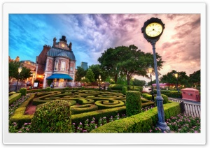 Disney World At Sunset HD Wide Wallpaper for Widescreen