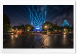 Disneyland at Night HD Wide Wallpaper for 4K UHD Widescreen desktop & smartphone