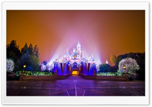 Disneyland Castle Christmas HD Wide Wallpaper for Widescreen