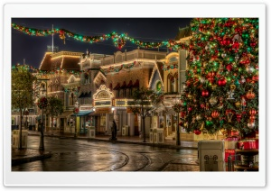 Disneyland Christmas HD Wide Wallpaper for Widescreen