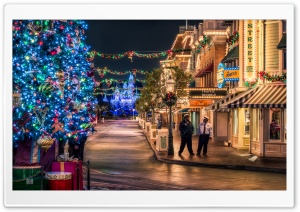 Disneyland Christmas Tree HD Wide Wallpaper for Widescreen