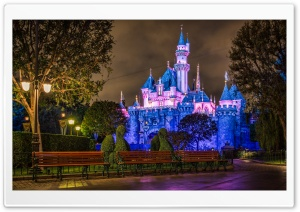 Disneyland Sleeping Beauty Castle HD Wide Wallpaper for 4K UHD Widescreen desktop & smartphone