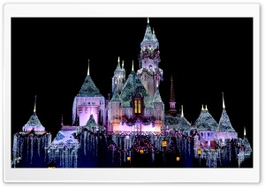 Disneyland Sleeping Beauty Castle - Winter HD Wide Wallpaper for Widescreen