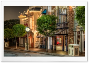 Disneyland Street HD Wide Wallpaper for Widescreen