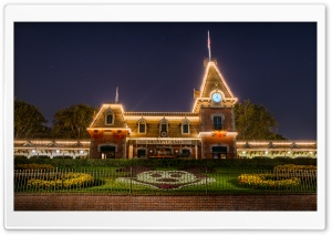 Disneyland Train Station HD Wide Wallpaper for Widescreen