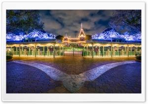 Disneyland Winter Holidays HD Wide Wallpaper for Widescreen
