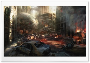 Distroyed City HD Wide Wallpaper for Widescreen