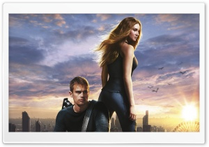 Divergent Shailene Woodley And Theo James HD Wide Wallpaper for Widescreen