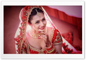 Divyanka Tripathi Wedding Bride HD Wide Wallpaper for Widescreen