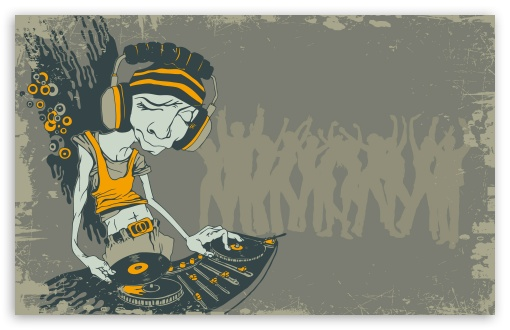 DJ Caricature HD wallpaper for Wide 16:10 5:3 Widescreen WHXGA WQXGA ...