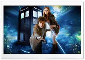 Doctor Who   Matt Smith and Karen Gillan HD Wide Wallpaper for Widescreen