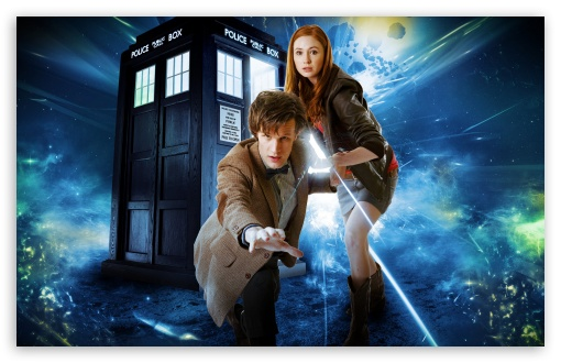 Doctor Who   Matt Smith and Karen Gillan HD wallpaper for Standard 4:3 5:4 Fullscreen UXGA XGA SVGA QSXGA SXGA ; Wide 16:10 5:3 Widescreen WHXGA WQXGA WUXGA WXGA WGA ; HD 16:9 High Definition WQHD QWXGA 1080p 900p 720p QHD nHD ; Other 3:2 DVGA HVGA HQVGA devices ( Apple PowerBook G4 iPhone 4 3G 3GS iPod Touch ) ; Mobile VGA WVGA iPhone iPad PSP Phone - VGA QVGA Smartphone ( PocketPC GPS iPod Zune BlackBerry HTC Samsung LG Nokia Eten Asus ) WVGA WQVGA Smartphone ( HTC Samsung Sony Ericsson LG Vertu MIO ) HVGA Smartphone ( Apple iPhone iPod BlackBerry HTC Samsung Nokia ) Sony PSP Zune HD Zen ; Tablet 2 Android ;