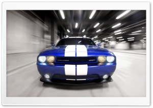 Dodge Challenger Blue HD Wide Wallpaper for Widescreen