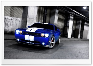 Dodge Challenger SRT8 Blue HD Wide Wallpaper for Widescreen