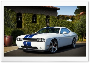 Dodge Challenger SRT8 Blue Stripes HD Wide Wallpaper for Widescreen