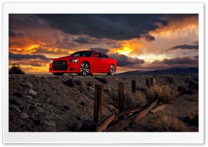 Dodge Charger SRT8 Red HD Wide Wallpaper for Widescreen