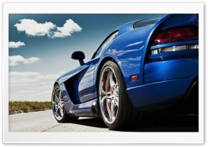 Dodge Viper Blue HD Wide Wallpaper for Widescreen